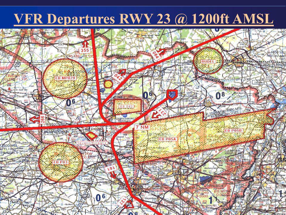 VFR Departures RWY 23 @ 1200ft AMSL