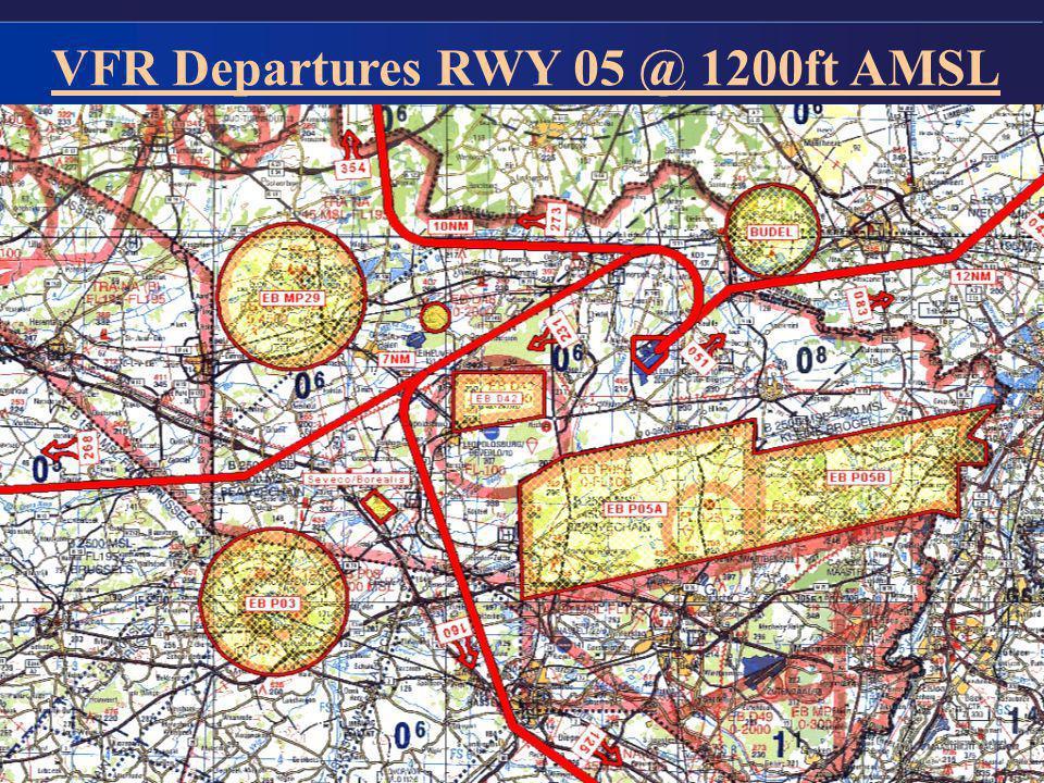 VFR Departures RWY 05 @ 1200ft AMSL