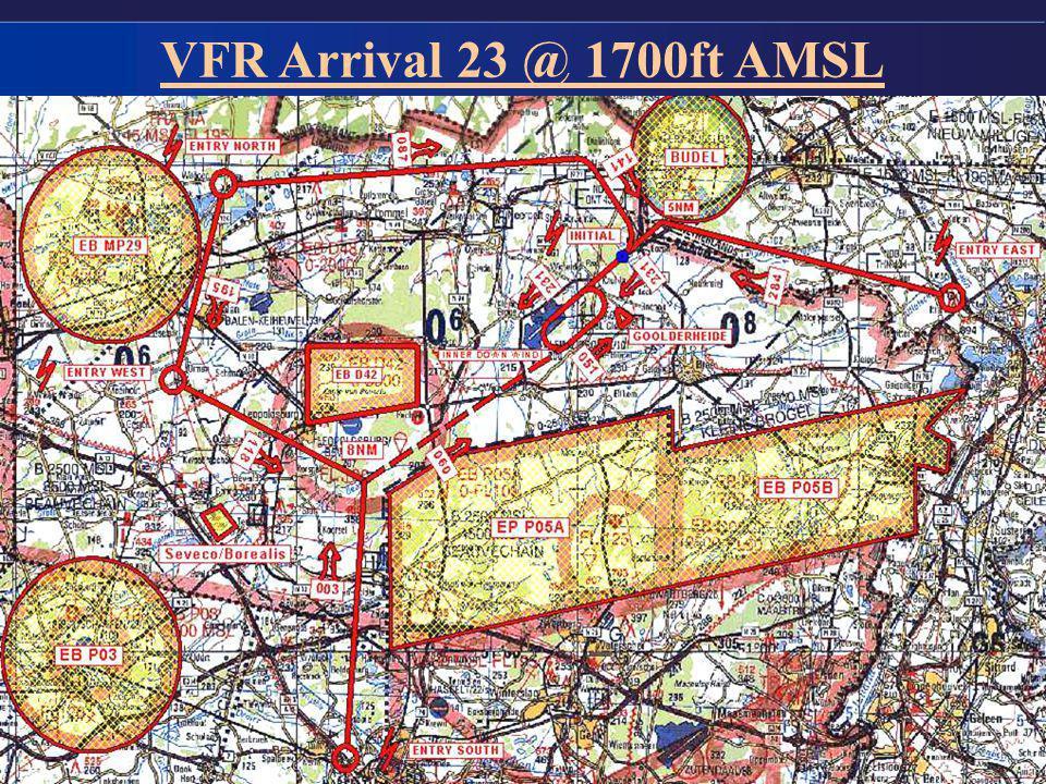 VFR Arrival 23 @ 1700ft AMSL