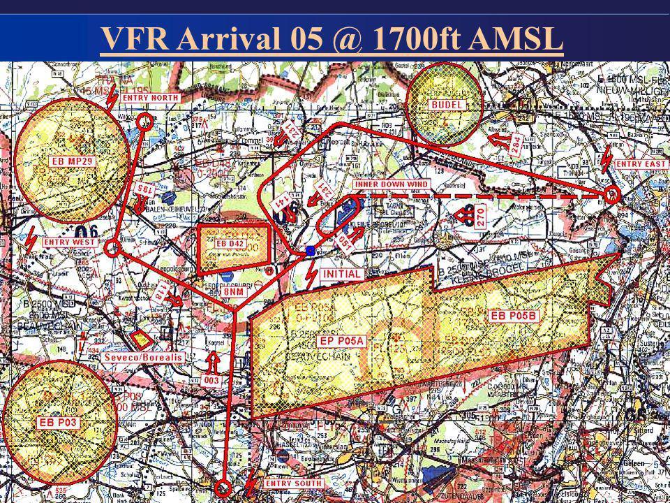 VFR Arrival 05 @ 1700ft AMSL