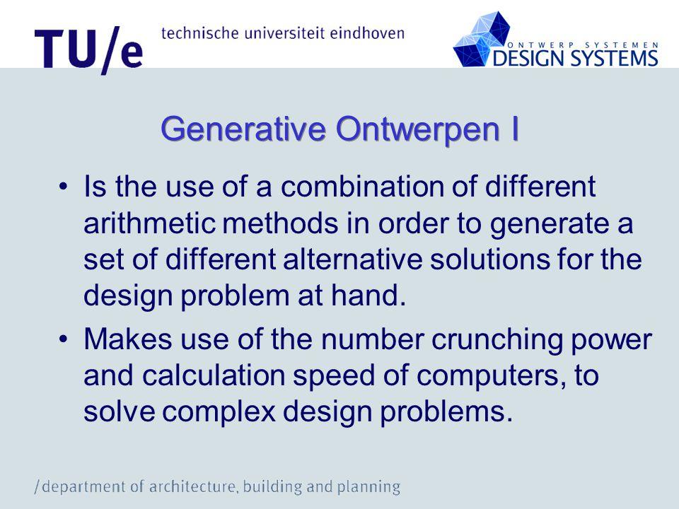 Generative Ontwerpen I
