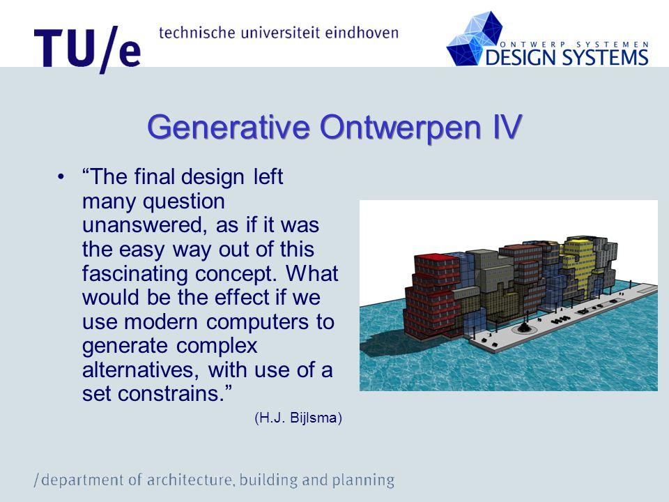 Generative Ontwerpen IV