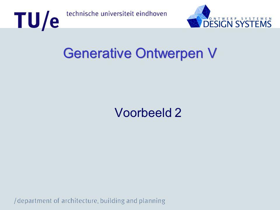 Generative Ontwerpen V