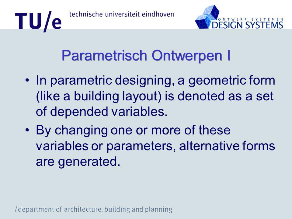 Parametrisch Ontwerpen I