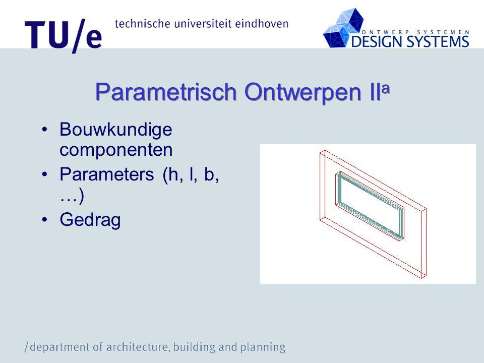 Parametrisch Ontwerpen IIa