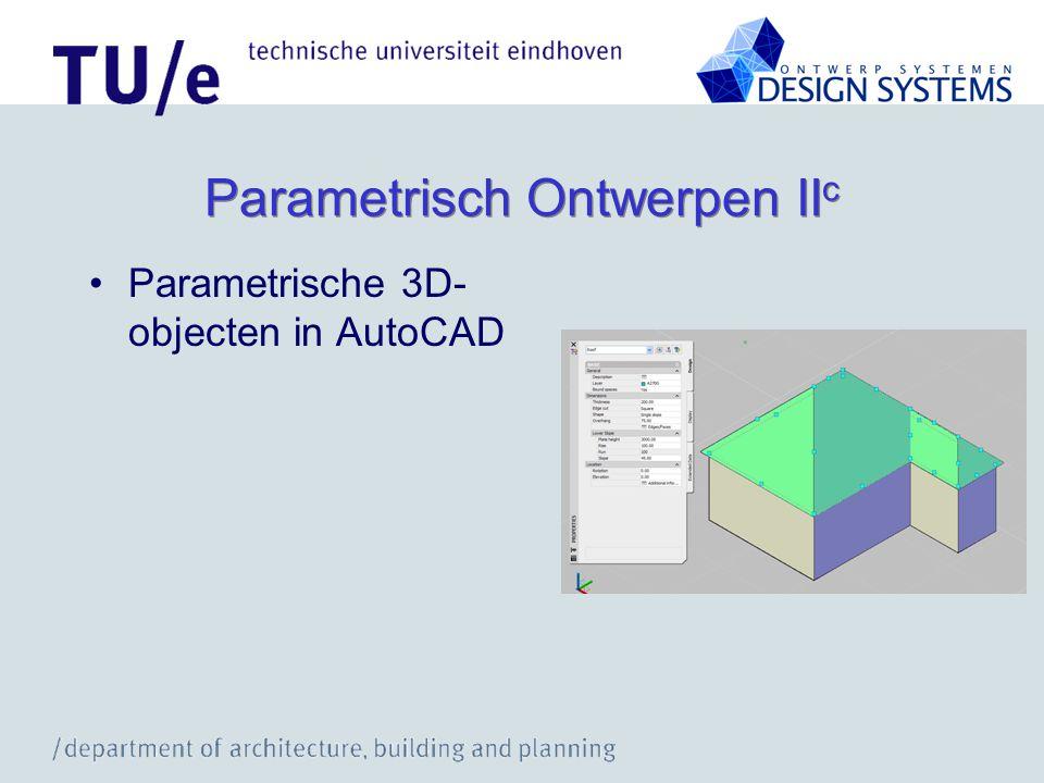 Parametrisch Ontwerpen IIc