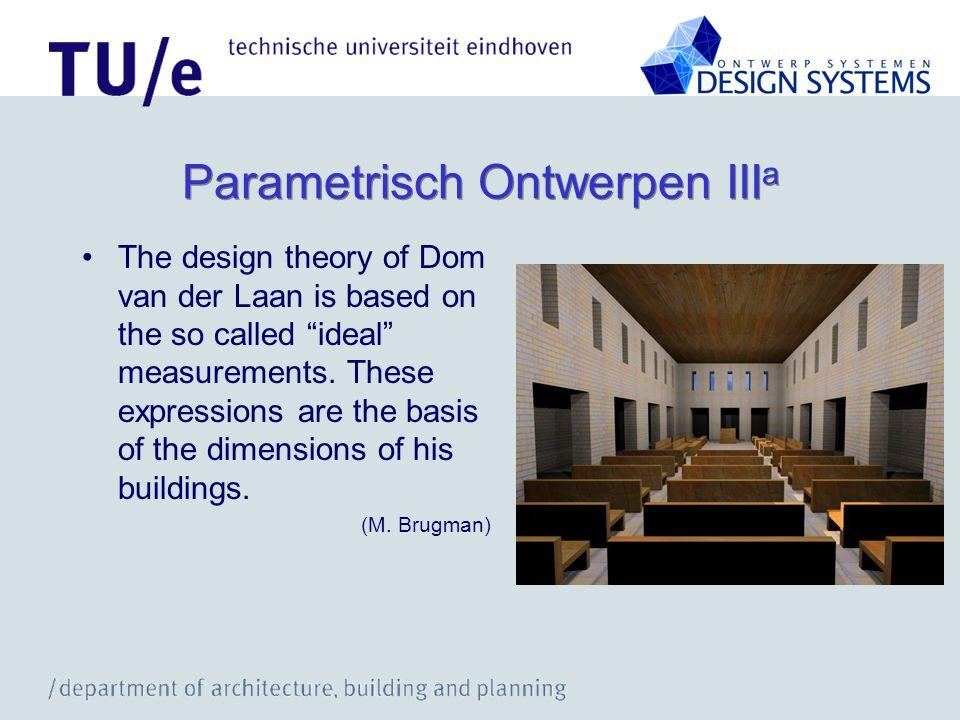 Parametrisch Ontwerpen IIIa