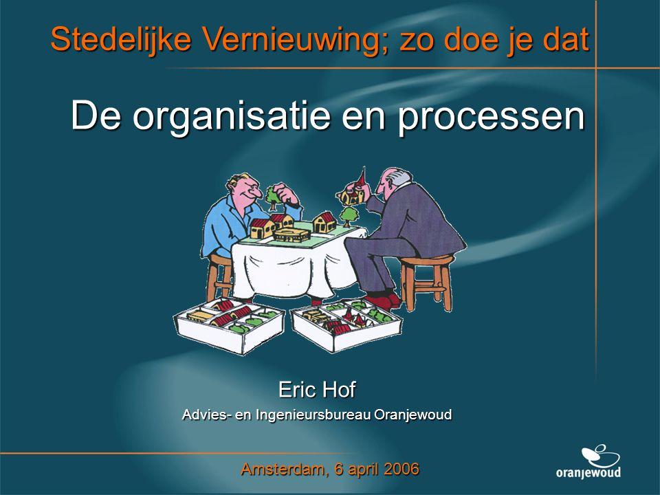 De organisatie en processen