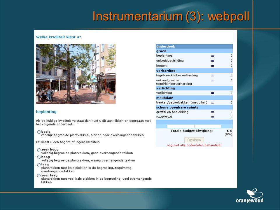 Instrumentarium (3): webpoll