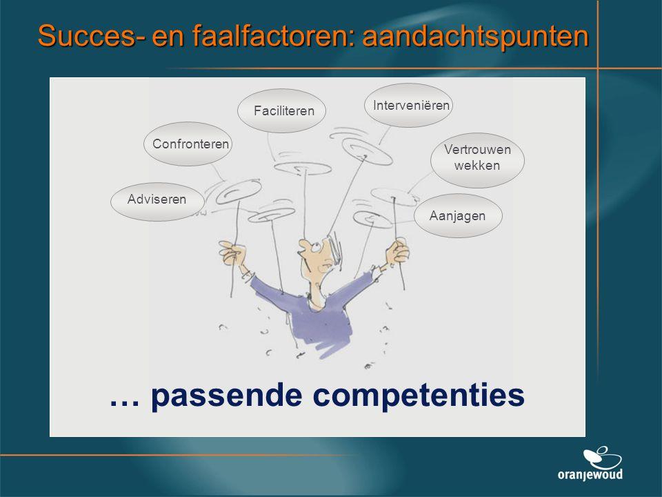 … passende competenties