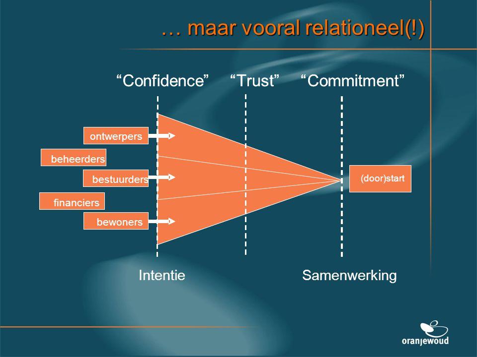 … maar vooral relationeel(!)