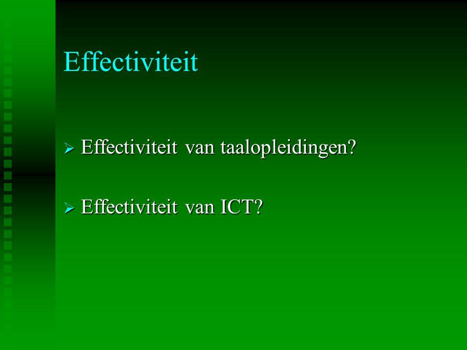 Effectiviteit Effectiviteit van taalopleidingen