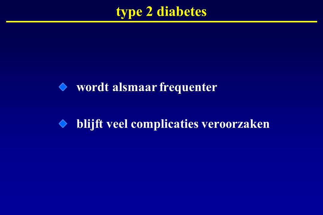 type 2 diabetes wordt alsmaar frequenter