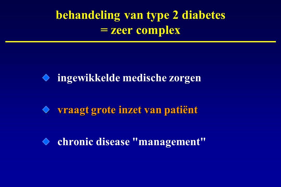 behandeling van type 2 diabetes = zeer complex