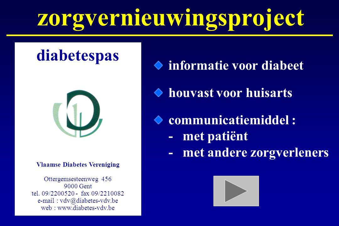 zorgvernieuwingsproject Vlaamse Diabetes Vereniging