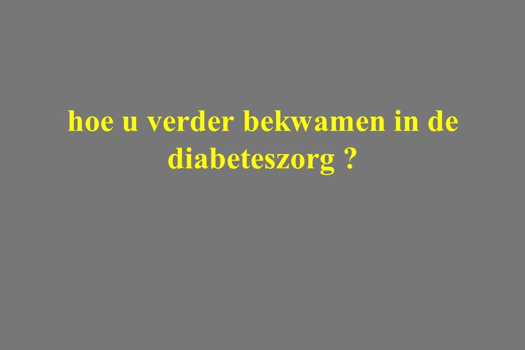 hoe u verder bekwamen in de diabeteszorg