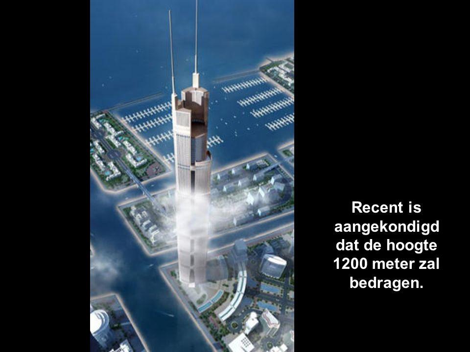 Recent is aangekondigd dat de hoogte 1200 meter zal bedragen.