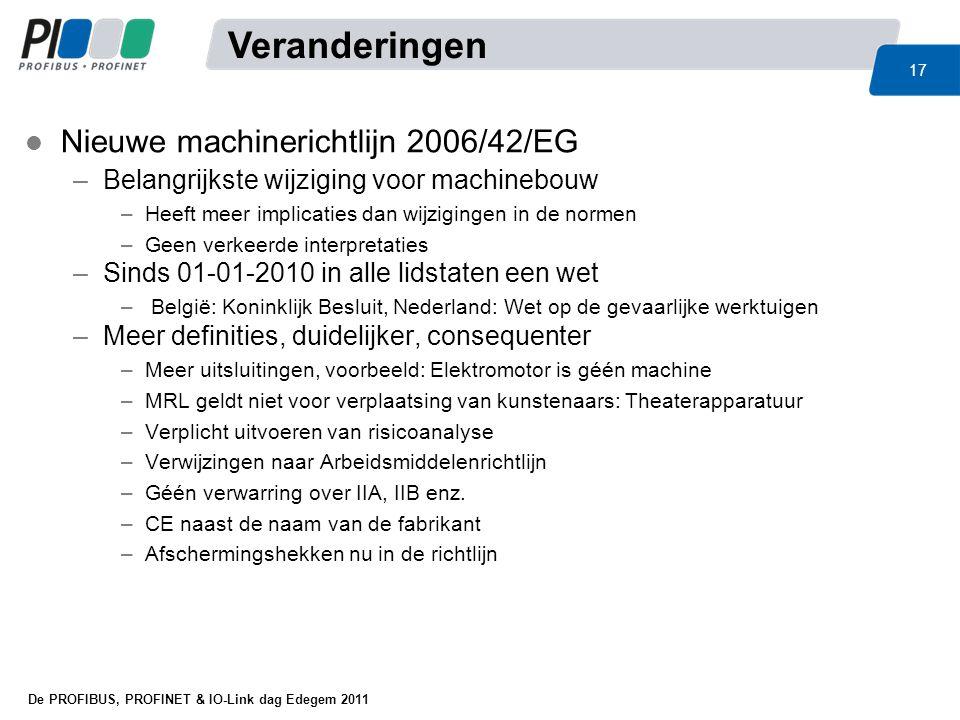 Veranderingen Nieuwe machinerichtlijn 2006/42/EG