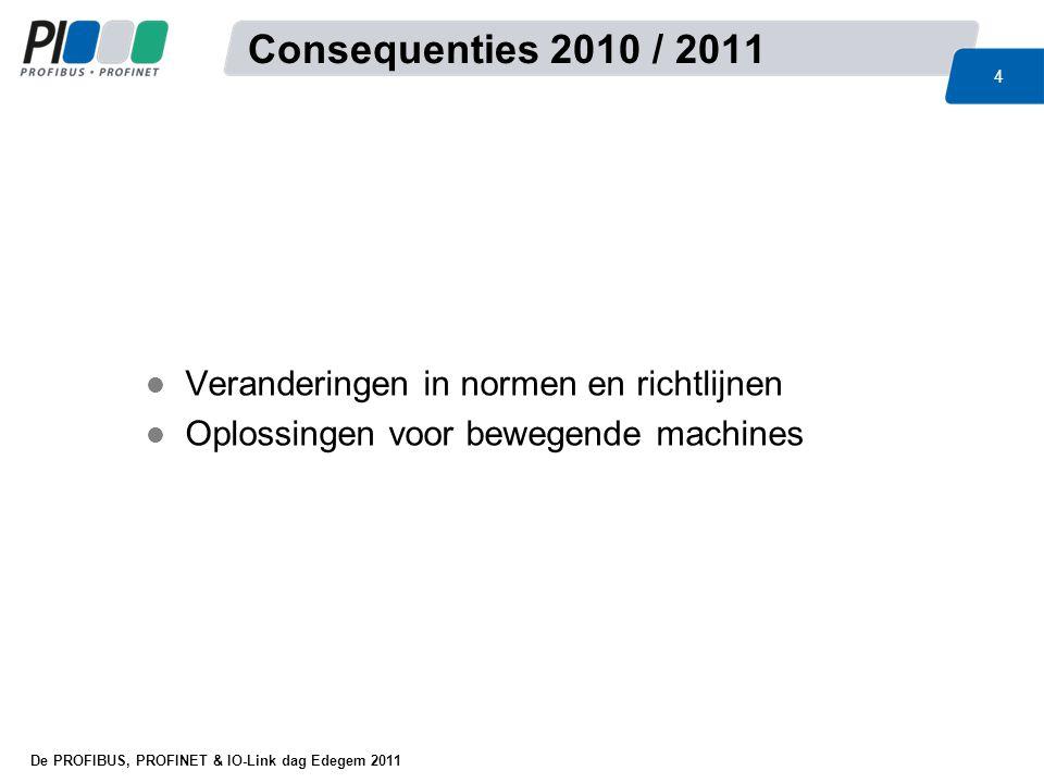 Consequenties 2010 / 2011 Veranderingen in normen en richtlijnen