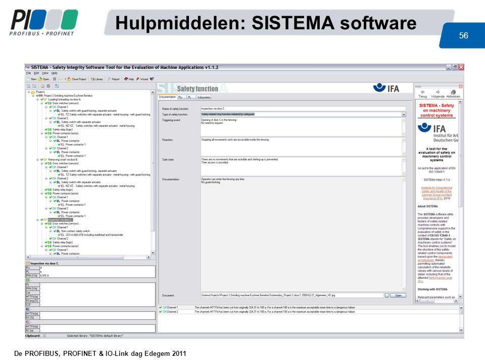 Hulpmiddelen: SISTEMA software