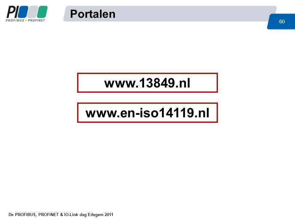 Portalen www.13849.nl www.en-iso14119.nl