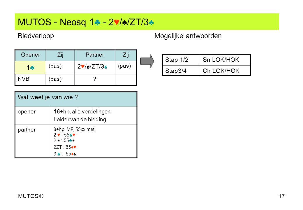MUTOS - Neosq 1♣ - 2♥/♠/ZT/3♣