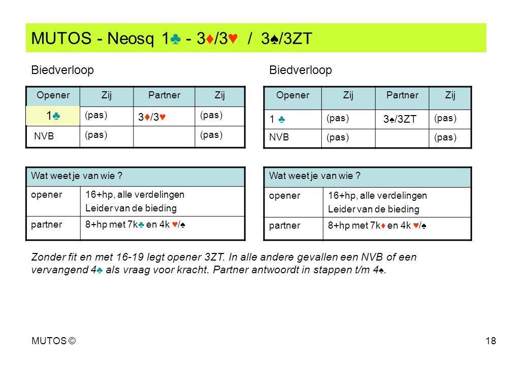 MUTOS - Neosq 1♣ - 3♦/3♥ / 3♠/3ZT