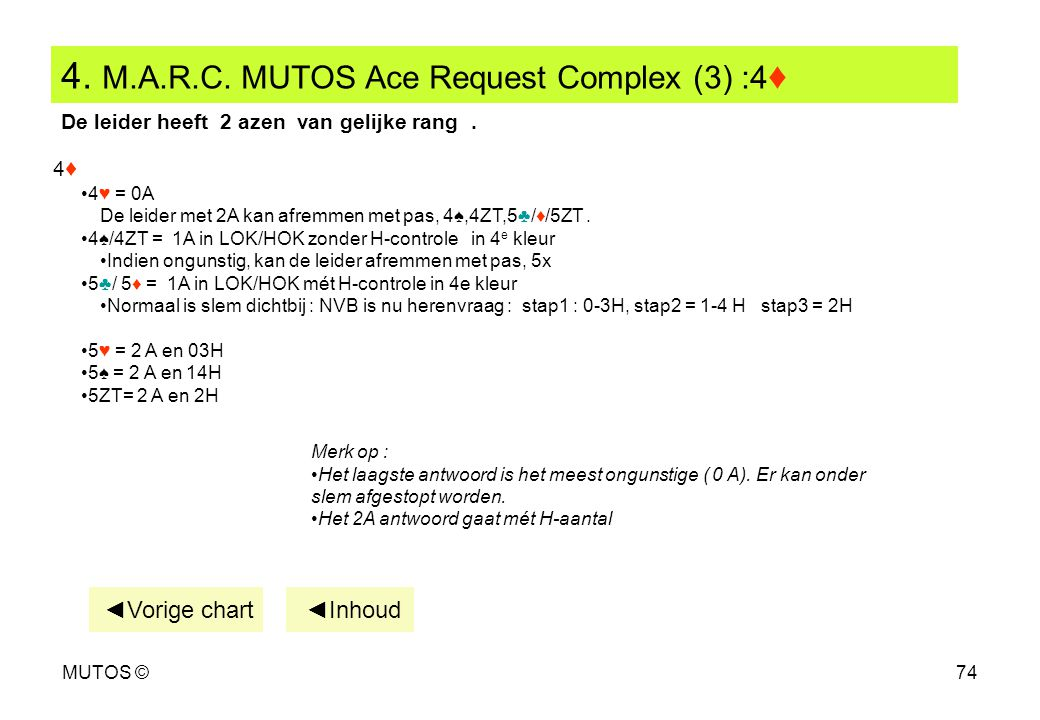 4. M.A.R.C. MUTOS Ace Request Complex (3) :4♦