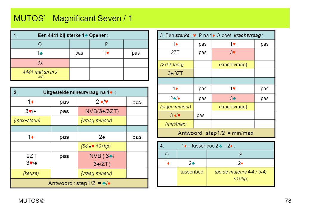 MUTOS' Magnificant Seven / 1