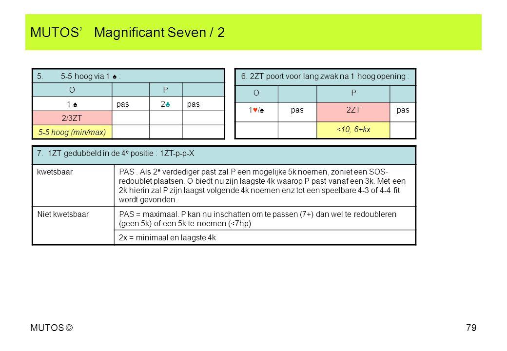 MUTOS' Magnificant Seven / 2