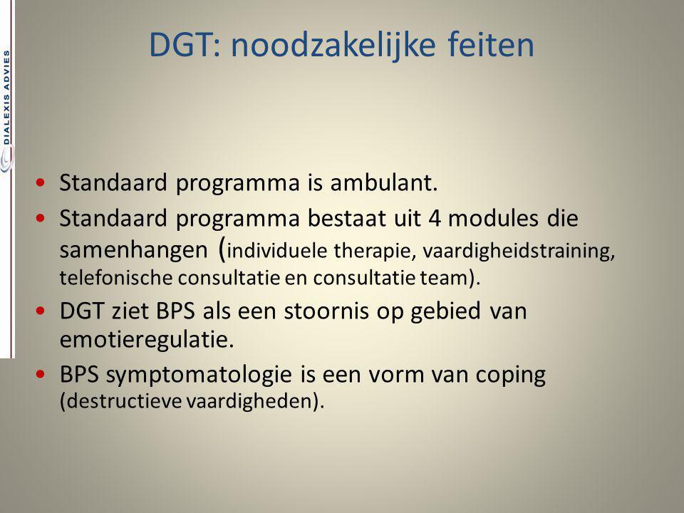 DGT: noodzakelijke feiten