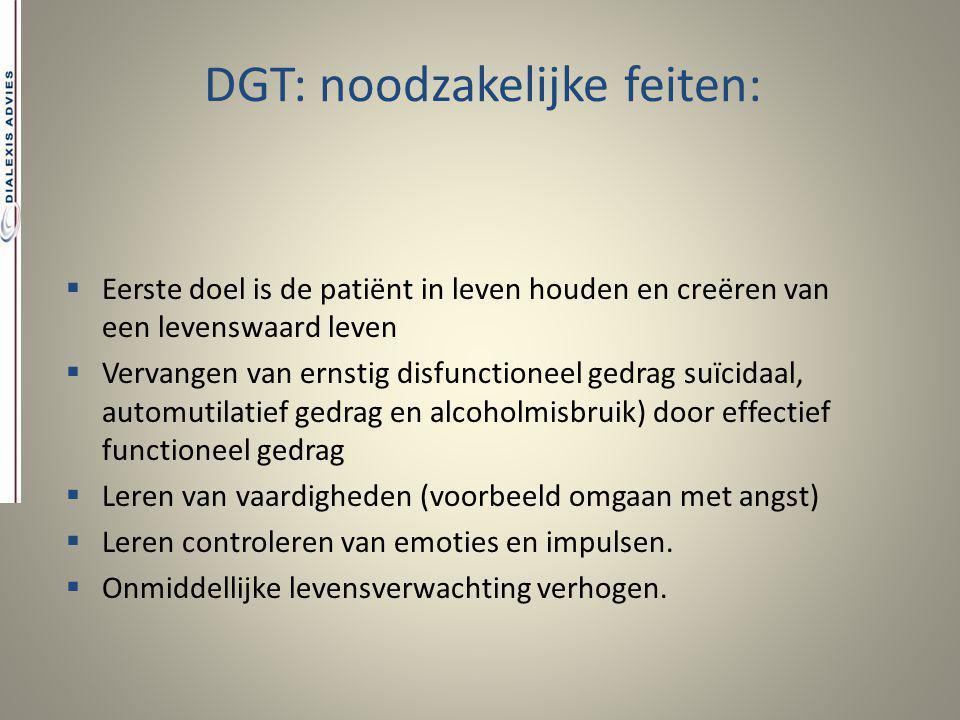 DGT: noodzakelijke feiten: