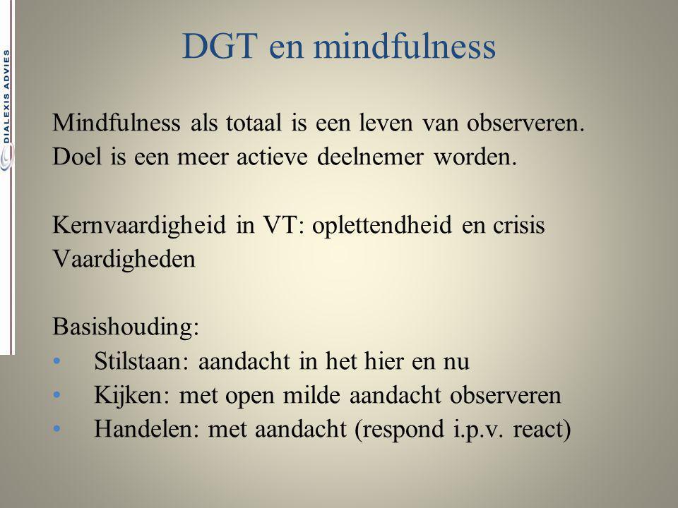 DGT en mindfulness Mindfulness als totaal is een leven van observeren.