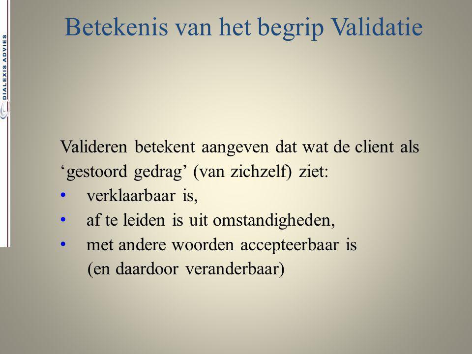 Betekenis van het begrip Validatie