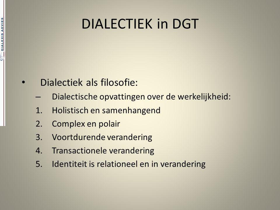 DIALECTIEK in DGT Dialectiek als filosofie: