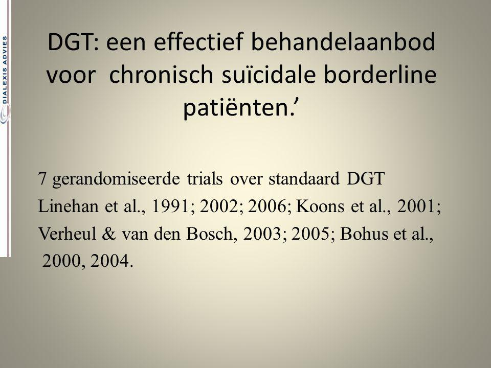 DGT: een effectief behandelaanbod voor chronisch suïcidale borderline patiënten.'
