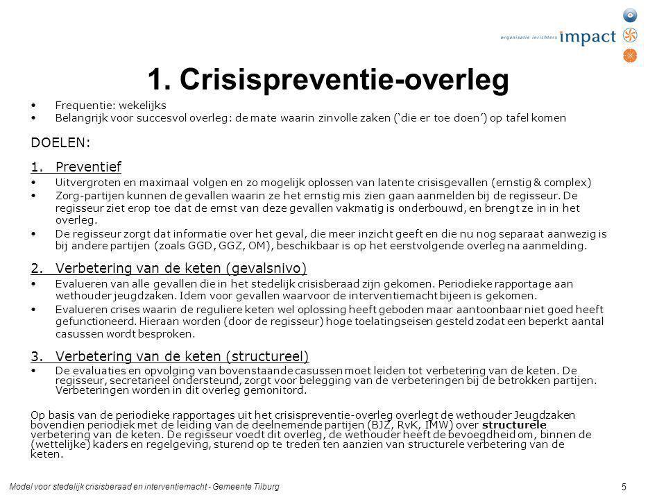 1. Crisispreventie-overleg