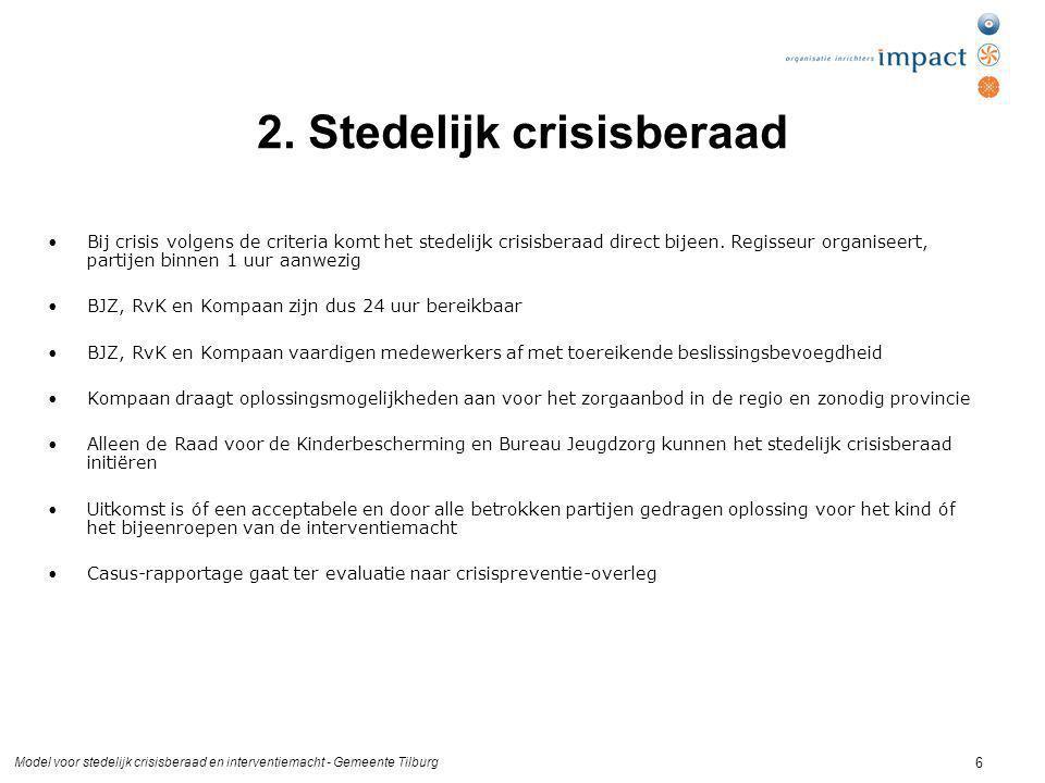 2. Stedelijk crisisberaad