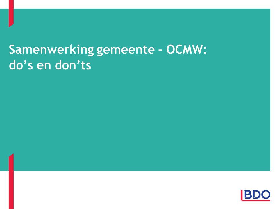 Samenwerking gemeente – OCMW: do's en don'ts