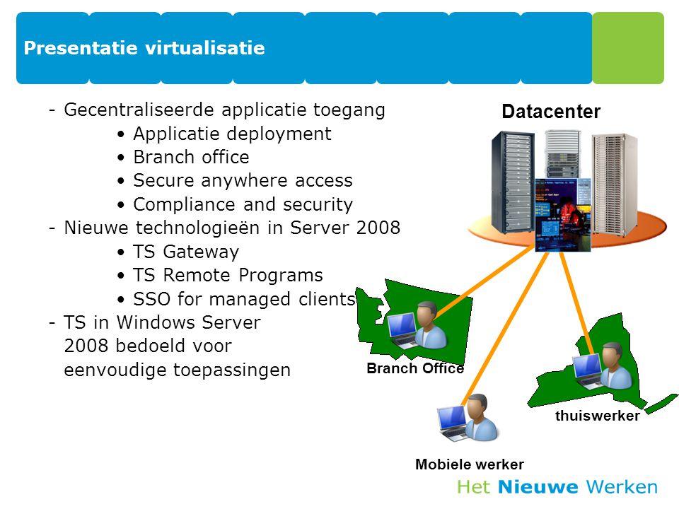 Presentatie virtualisatie