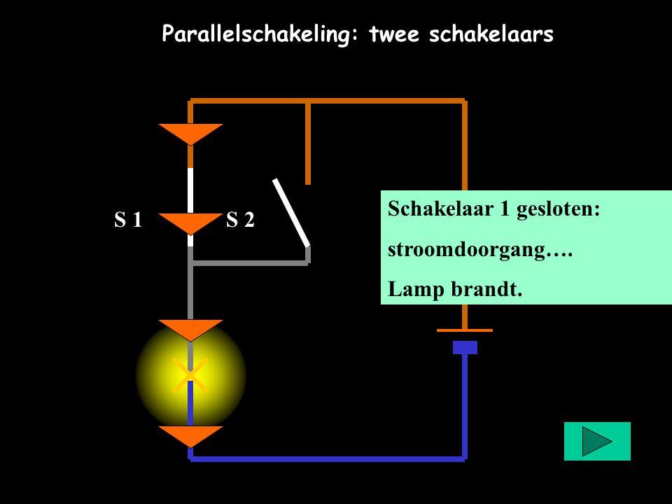 Parallelschakeling: twee schakelaars