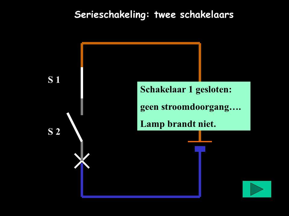 Serieschakeling: twee schakelaars