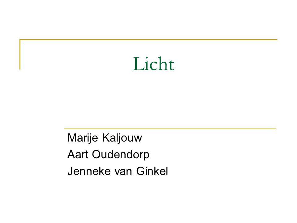 Marije Kaljouw Aart Oudendorp Jenneke van Ginkel