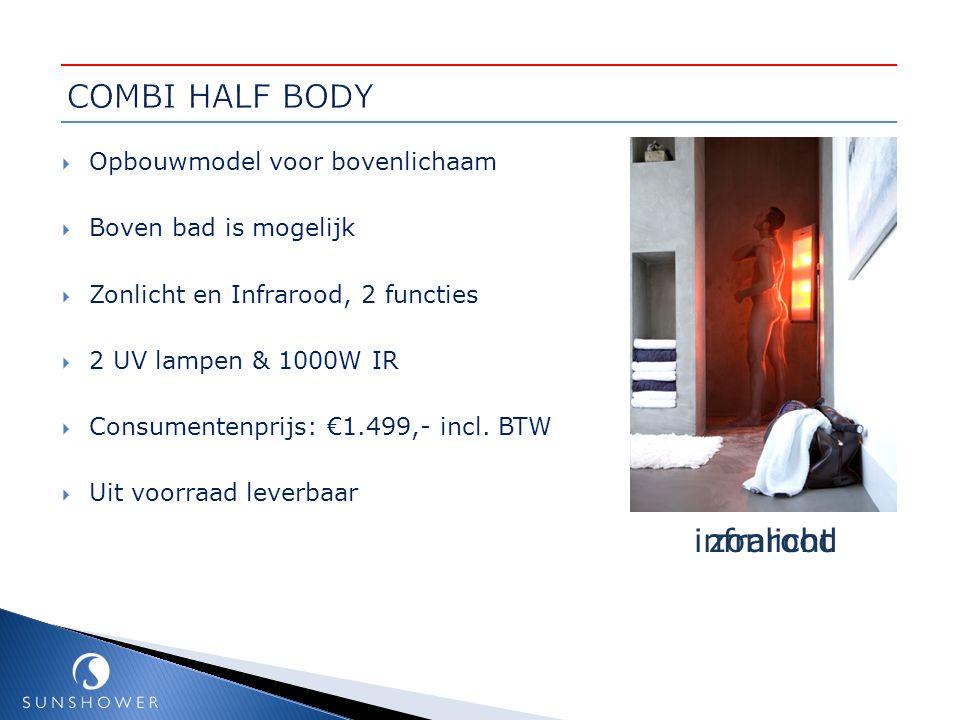 COMBI HALF BODY infrarood zonlicht Opbouwmodel voor bovenlichaam