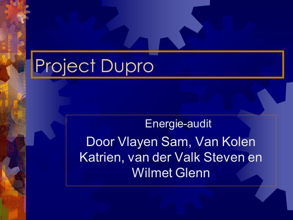 Project Dupro Energie-audit Door Vlayen Sam, Van Kolen Katrien, van der Valk Steven en Wilmet Glenn