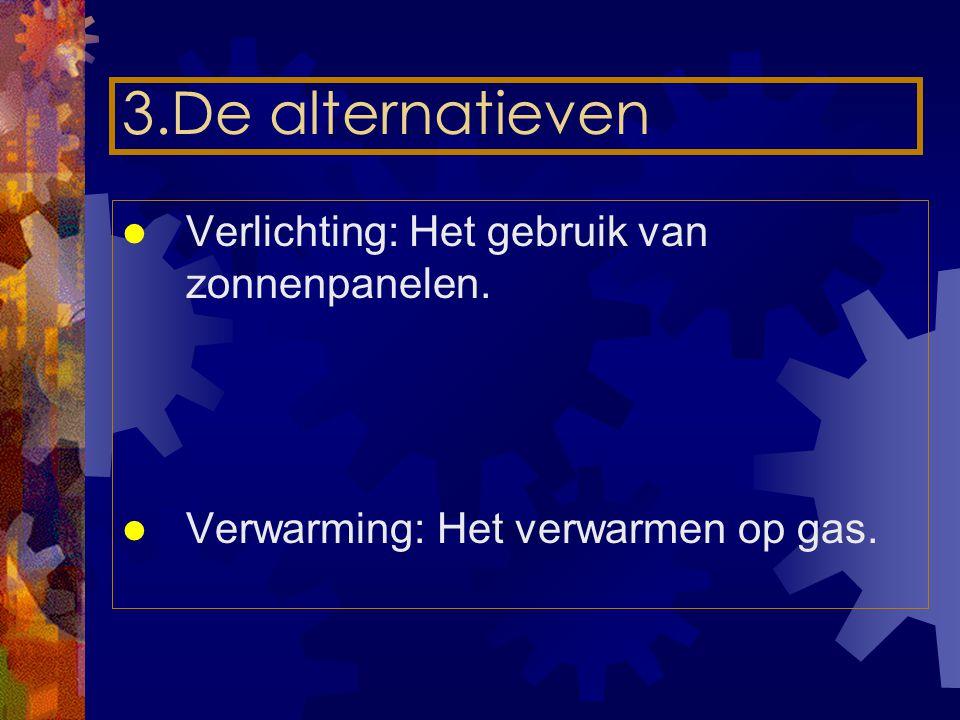 3.De alternatieven Verlichting: Het gebruik van zonnenpanelen.