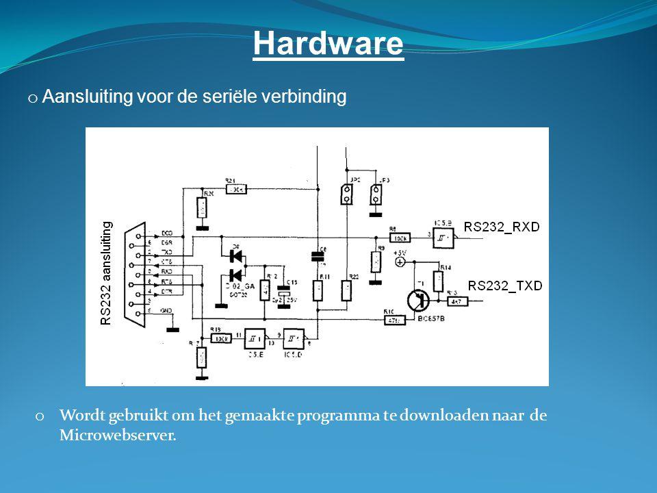 Hardware Aansluiting voor de seriële verbinding