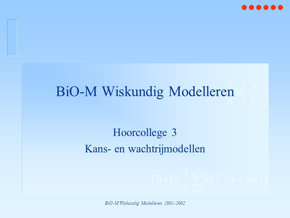 BiO-M Wiskundig Modelleren