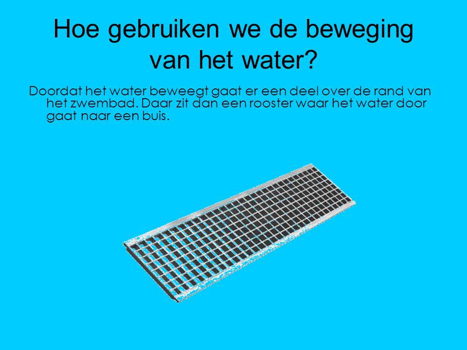 Hoe gebruiken we de beweging van het water