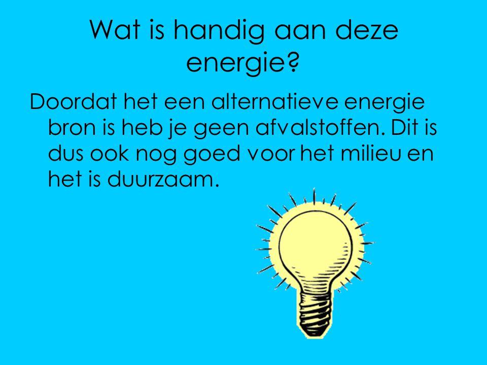 Wat is handig aan deze energie